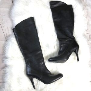 [Stuart Weitzman] Leather Round Toe Stiletto Boots